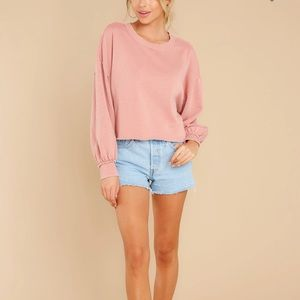 ✨HP✨ Z Supply Tempest Petal Pink Cropped Sweater